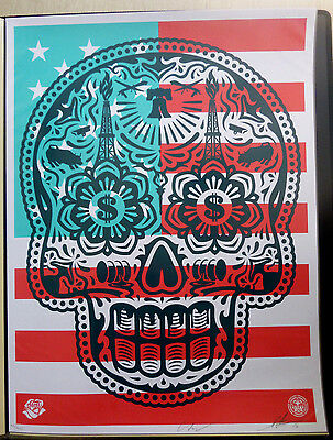 Shepard Fairey, OBEY - Power & Glory Merica, Orig.Siebdruck, Handsign.num.