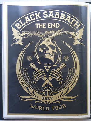 Shepard Fairey - Black Sabbath The End, 3x Original Siebdrucke, Handsign.,num,