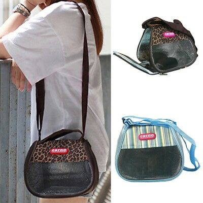 Chic Small Animals Carrier Portable Pet Travel Bag Grid Cloth Anti-Bite Pouch