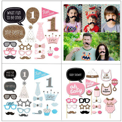 Party Props Photo Booth Fake Moustache  A Stick Funny Birthday Wedding Games UK