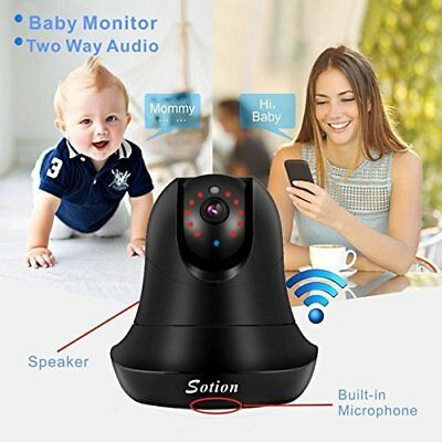 Baby Pet Monitor WiFi Wireless Cry Sound Motion Detection Night Vision Security