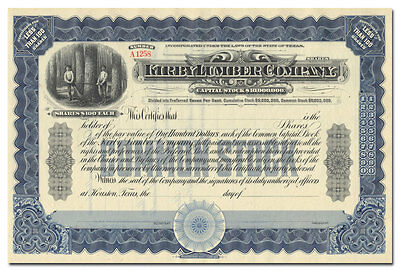 Kirby Lumber Company Stock Certificate
