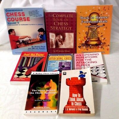 Chess Book Lot of 8 Different Paperback Titles (See List) - Good or Better