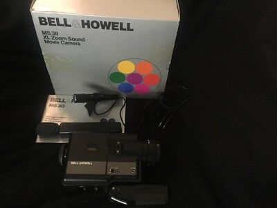 Vintage Bell & Howell MS 30 Super 8 XL Zoom Sound Camera With Box & Instructions