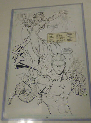 HEIRS TO ETERNITY last reveal Pg.22 ORIGINAL PUBLISHED ART 2003 INKED PAGE