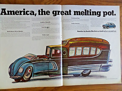 1968 Austin America Car Ad The Great Melting Pot