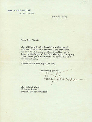 Harry S Truman - Typed Letter Signed 05/12/1949