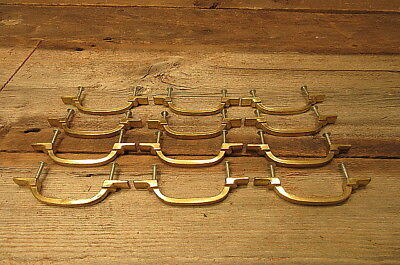 Set of 12 Vintage Brass Keeler Brass Co KBC Drawer Pulls Handles