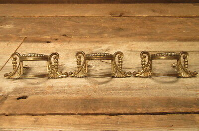 Set of 3 Vintage Brass Drawer Pulls Handles Dresser Hutch Victorian