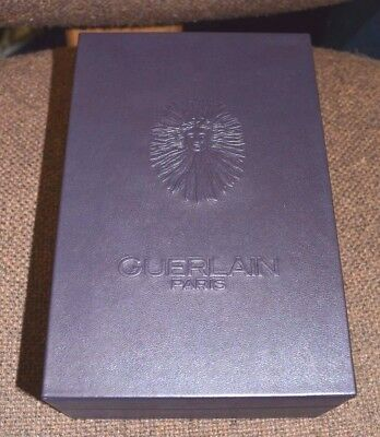 "GUERLAIN PARIS Dark Purple (Almost Black) LEATHER Perfume BOX 7.5"" x 5"" x 3"" NEW"