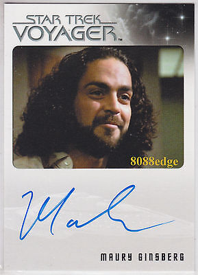 "2015 Star Trek Voyager Heroes/villains Auto: Maury Ginsberg -Autograph ""friends"""