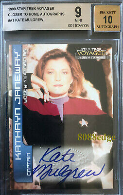 "1999 Star Trek Voyager Auto: Kate Mulgrew #A1 Autograph""Orange The New Black""Bgs"