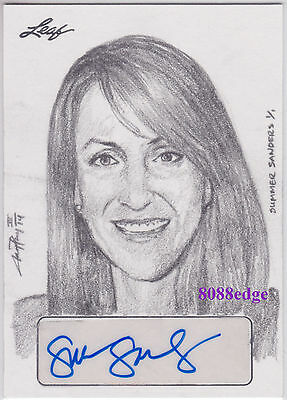 2015 Masterworks Jay Pangan Sketch Auto: Summer Sanders #1/1 Autograph Olympic