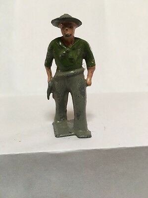 Vintage Lead Timpo Cowboys Western Wild West Green Shirt
