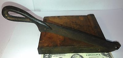 Antique tiny Desktop Paper Cutter Guillotine Milton Bradley Dandy ?? Cast Iron