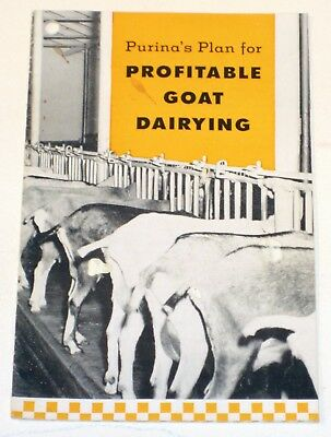 Vintage 1955 • PURINA PROFITABLE GOAT DAIRYING • Brochure