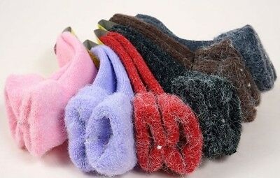 Winter Socks Fold-Down AntiSkid Solid Colors Kid Children Shoe Size 8-10 NEW