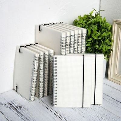 Blank Note Pad A6 A5 Spiral Coil Journal Diary Notebook Weekly Planner Book New