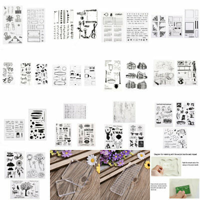 1X DIY Acrylic  Alphabet Silicone Stamp Clear Rubber Sheet Cling Scrapbooking