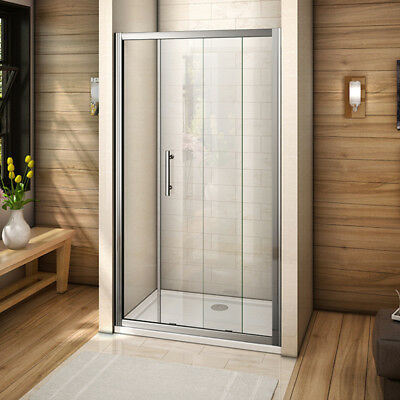 1400x1850mm Single Sliding Door Shower Enclosure Tempered Glass Walk In Cubicle