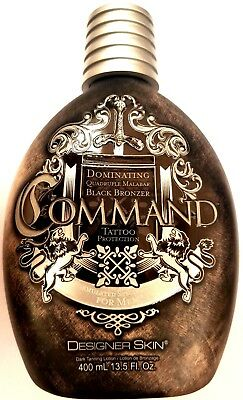 Designer Skin Command Black Bronzing Tanning Bed Lotion w/ Tattoo Protection