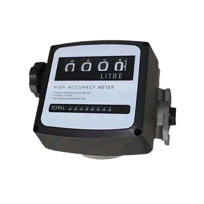 1 inch 4 Digital Petrol Diesel Gas Fuel Oil Turbine Flow Meter Counter Gauge