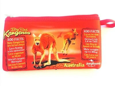 Big Red Australian Kangaroo Medium Coin Purse (Ideal as a Gift)