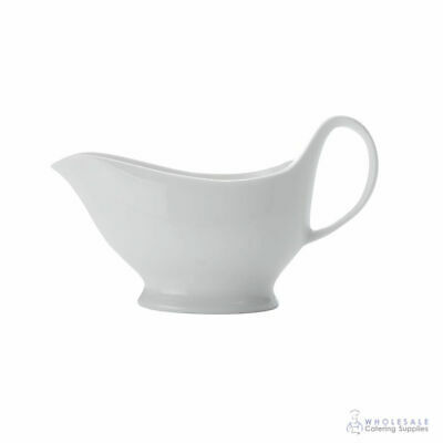 12x Gravy Boat 400mL Porcelain Maxwell & Williams White Basics Sauce Jug NEW