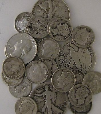 90% Silver- $1 Face Value- U.s. Coin Lot-Half Dollars,quarters Or Dimes-Free S&h