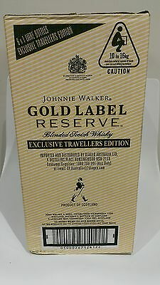 Johnnie Walker Scotch Whisky Gold Bullion x 6! World Map 1L Duty Free! Full Box!