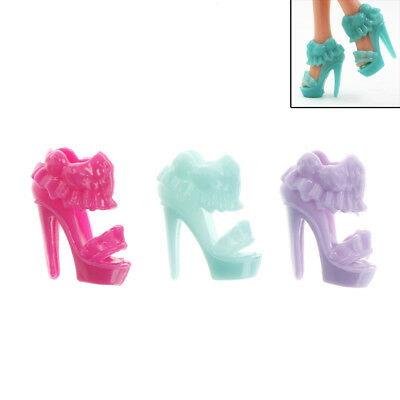 10 Pairs Barbie Shoes The Skirt Design Doll Shoes Barbie Dolls Accessories Gift