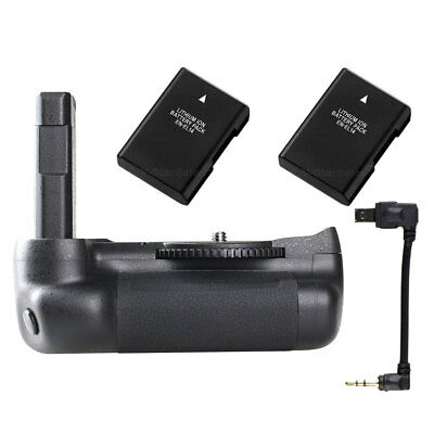 Vertical Battery Grip Pack  Holder +2x EN-EL14a For Nikon D5500 D5600 SLR Camera