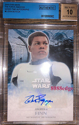 2016 Topps Star Wars Auto: John Boyega/Finn - The Force Awakens Bas Autograph 10