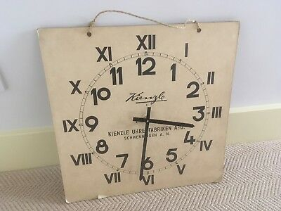 Antique Vintage German Educational Chart Teaching Aid Clock Wall Hanging C1950