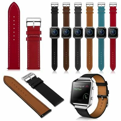 UK Luxury Genuine Leather Watch band Wrist strap For Fitbit Blaze Smart Bracelet