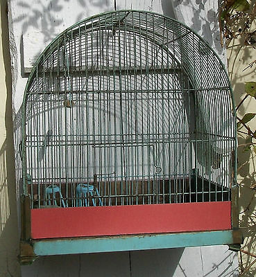 Vintage French Bird Cage Domed Wire work Garden Decoration planter