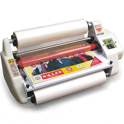 13'' A3 Laminator Four Rollers Hot and Cold Roll Laminating Machine 220V