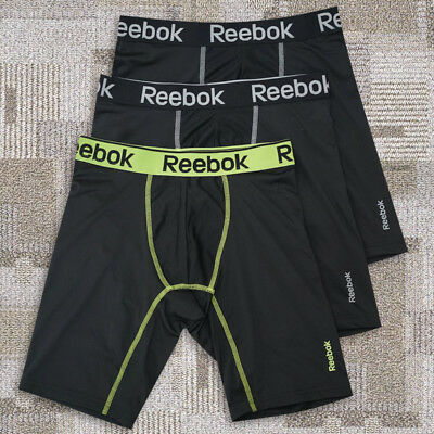 "Mens Reebok Long Leg 6"" Sport Quick Dry Underwear Trunks Boxer Briefs Size S-XL"