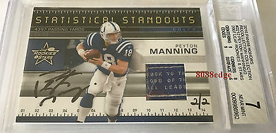 2016 Panini Recollection Worn Tag Auto: Peyton Manning #2/2 Autograph Patch Bgs