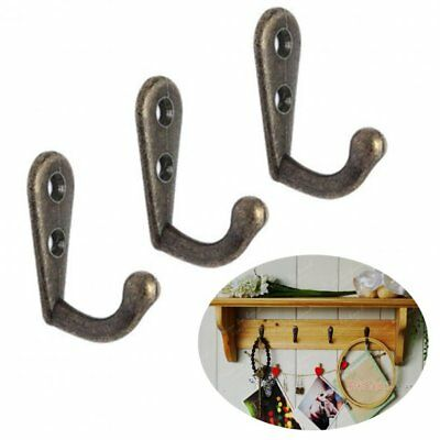10pcs Small Zinc Alloy Coat Hooks Bedroom Vintage Wall Storage Metal Hook Door