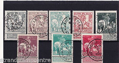 Belgium - 1910 Brussels Exhibition - Fine CDS Used - SG 109-116