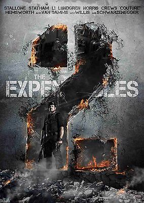 A4 /& A3 Option 10 Dolph Lundgren The Expendables 2 Film Poster
