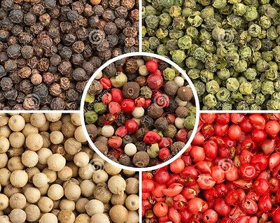Pepper Medley Whole Premium Mixed Peppercorns White, Black, Green and Pink 100g