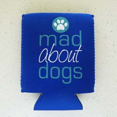 MAD ABOUT DOGS Neoprene Fold Flat Can / Stubbie Cooler