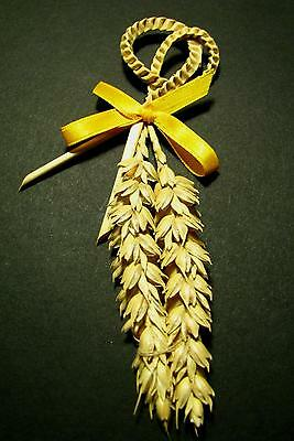 Good Luck + Fortune Corn Dolly Favour. Marriage. Wedding Gift. Farms. Wales.