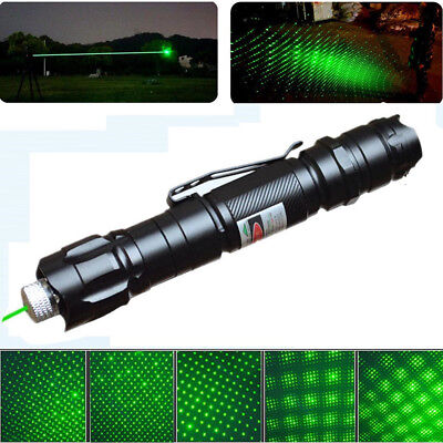 10 Miles Military Powerful 1mw Green Lazer Laser Pointer Pen 532nm Visible Beam