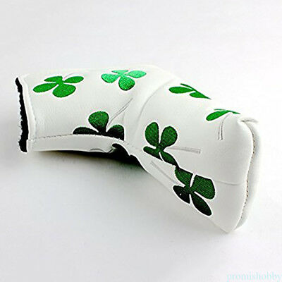 Waterproof PU Golf Putter Cover Head-cover with 4 Leaf Clover embroidery AU