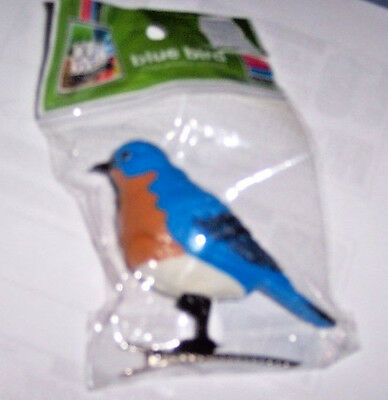 New Motion Activated Chirping Blue-Bird Clip-On Bird Ornament Authentic Sound