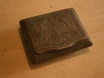 Antique Vintage Wooden Box With Beautiful Carving Fretwork