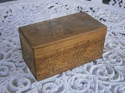 Antique Vintage Wooden Small Unique Chest Box For Jewellery